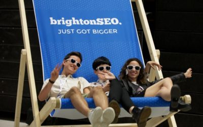 Don't be a stranger! Come say 'hey!' at BrightonSEO on Friday