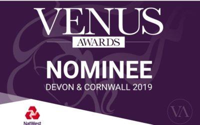 Float Digital Nominated for Devon & Cornwall Venus Awards 2019