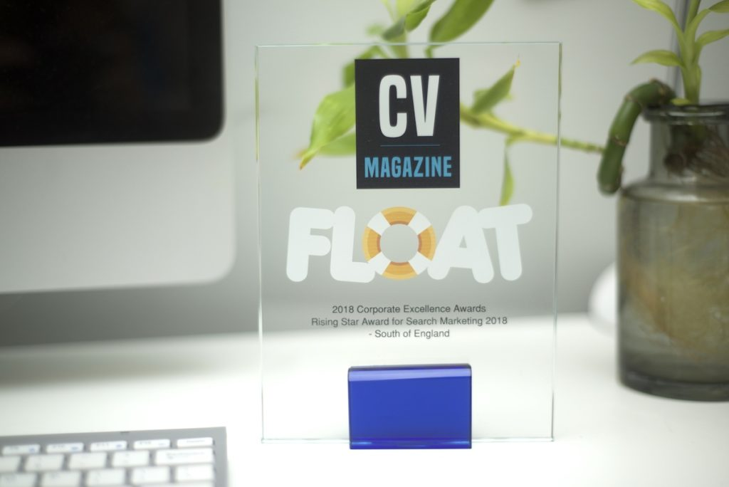 Float Digital win Rising Star Award for Search Marketing, Corporate Excellence Awards